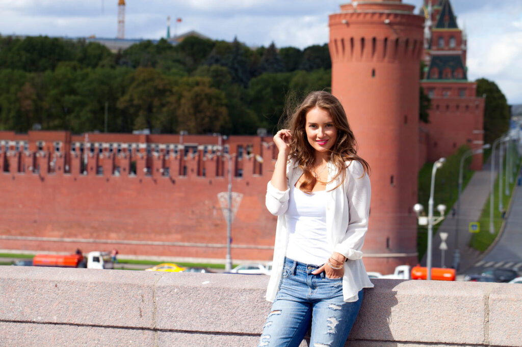 Красивая девушка из Москвы