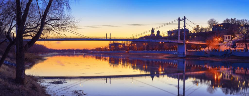 Свидание на мосту через Урал в Оренбурге