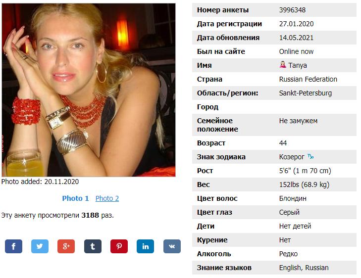 Профиль на сайте знакомств Fdating.com