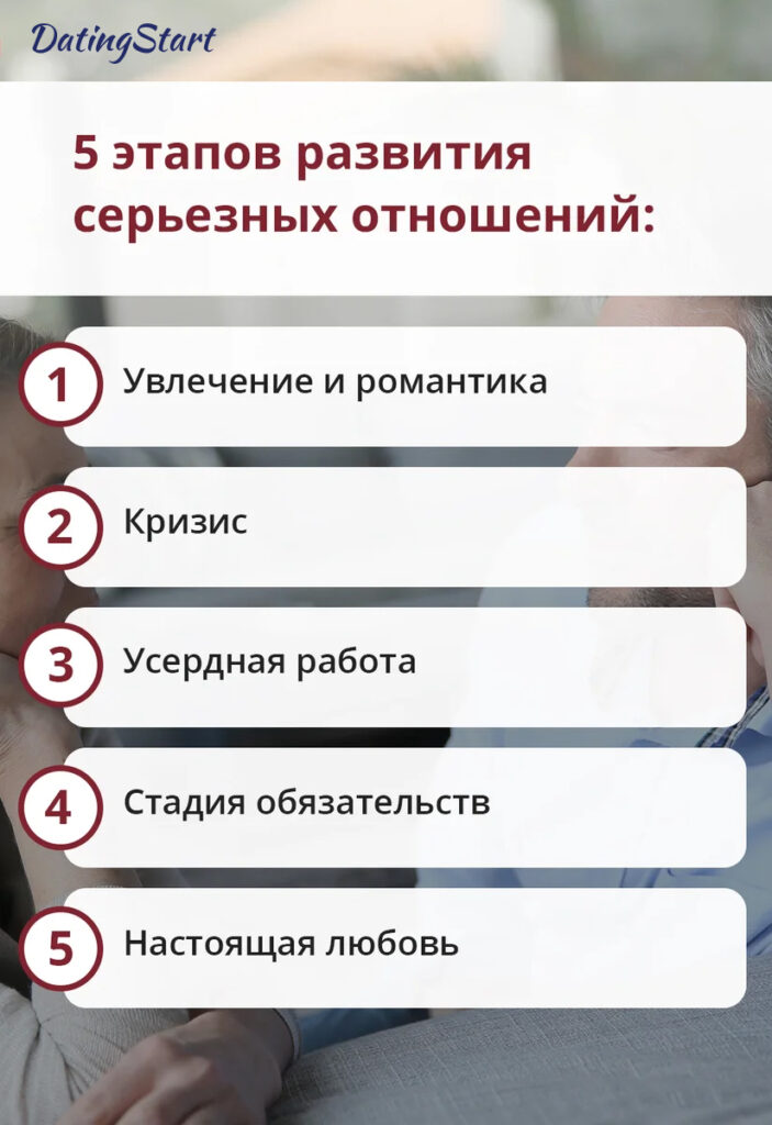 5 этапов развития серьезных отношений