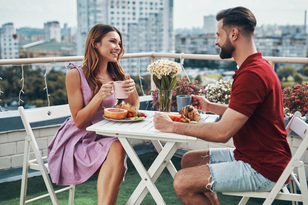 свидание с девушкой на крыше