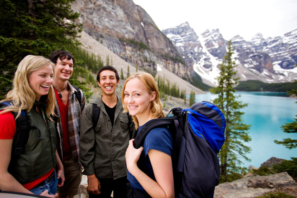 двойное свидание в горах в Канаде