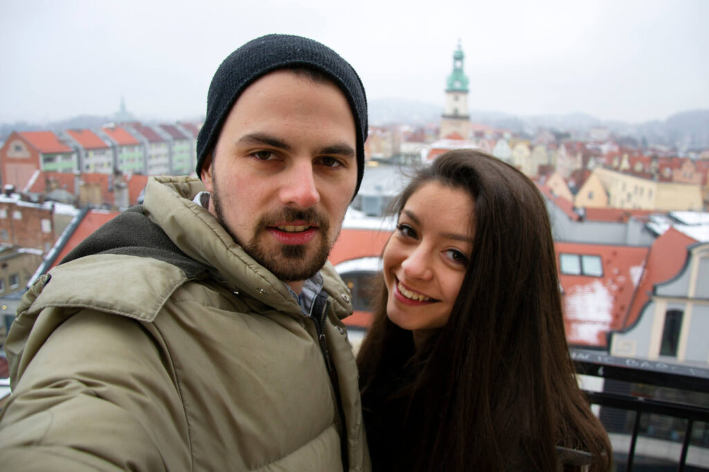 Свидание молодой пары в Германии